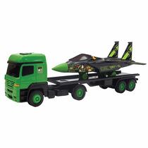 Caminhão Carreta Com Avião Ben 10 Brinquedo Menino Multibrin