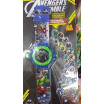 Relogio Projetor Homem Aranha Ben 10 Vingadores Avengers
