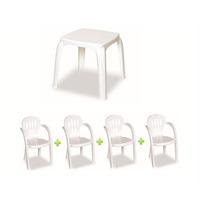 Mesa Infantil Branca Com 4 Cadeiras | Frete Grátis