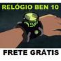 Relógio Ben 10 Marca Hora Com Sons E Luzes Do Desenho F.free