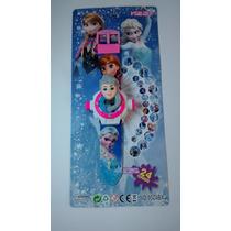 Briquedo Infantil Relogio Digital Projetor Frozen