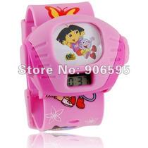 Relógio Dora Aventureira Projetor Imagens E Frete Gratis