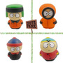 Kit 4 Cofres Bonecos South Park 9,5 Cm Novos Lacrados!