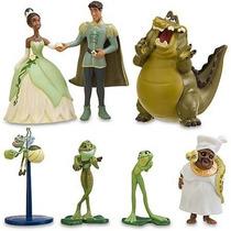 07 Bonecos Princesa Sapo Tiane Disney Bolo Festa Aniversario