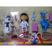 Kit De 05 Bonecos Doutora Disney Doctora + Acessorios