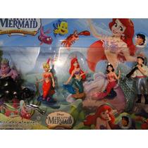 05 Bonecos Pequena Sereia Ariel Disney Little Mermaid
