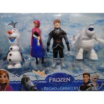 Embalagem Frozen Bonecos Novos De 12 Cm Kit Com 04 Bonecos