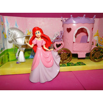 Princesa Sereia Ariel 12cm E Carruagem 27cm Do Castelo