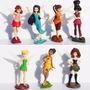 Kit 7 Bonecos Tinker Bell Disney Sininho Filme Fadas