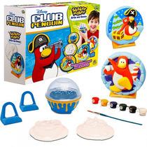 Club Pinguin Arte E Pintura Em Gesso Shaker Maker Disney Dtc