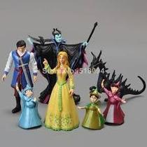Disney A Bela Adormecida Princesa Aurora 07 Figuras.