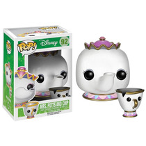 Funko Pop - Mrs Potts E Chip - A Bela E A Fera - Disney