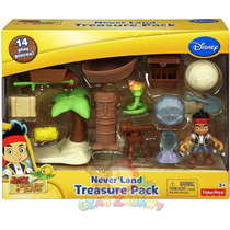 Jake Os Piratas Caça Ao Tesouro Na Terra Do Nunca Imaginext