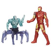 Pack Com 2 Figuras Homem De Ferro Vs Sub-ultron 01 Vingadore