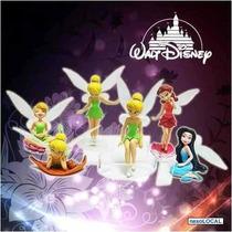 05 Bonecas Juntas Tinker Bell Fadinha Sininho Disney Coleção