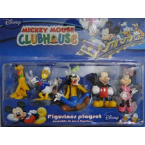 Pateta Minie Mickey Pato Donald Pluto 05 Bonecos Juntos