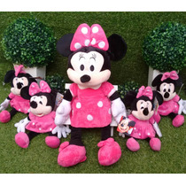 Kit Minnie Rosa Com 2 Minnies 27cm + 1 De 50cm