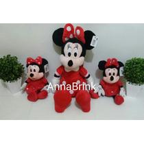 Kit C/5 Minnie De Pelúcia Vermelha