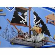 Aventuras Peter Pan E Capitão Gancho Barco Jangada Canhão