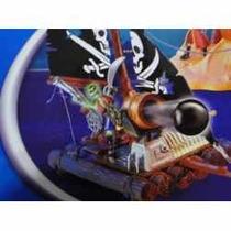 Barco Esqueleto Capitão Gancho Tesouro Canhão Atira Mesmo