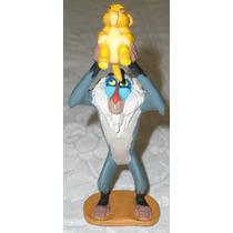 Rei Leão Boneco Rafiki 12cm Segurando Simba Lion King Disney