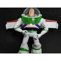 Buzz Eletronico 25cm Super Boneco Toy Story Asas Destacaveis