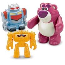 Imaginext Bonecos Toy Story 3 Lotso, Sparks E Chunk Original