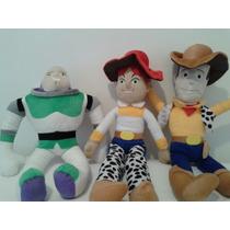 Kit Boneco De Pelúcia Woody+jessie+buzz Toy Story 56 Cm