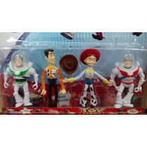 Kit 4 Personagens Toy Story Woody Jessie Buzz Lightyear