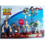 Kit 4 Personagens Toy Story Woody Jessie Buzz Lightyear Bala