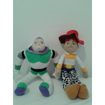 Kit 2 Bonecos De Pelúcia Buzz+jessie Toy Story 56 Cm