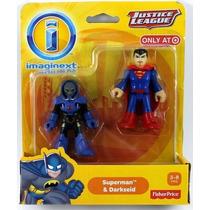 Imaginext Boneco Liga Da Justiça Super Man X Dark - Mattel