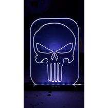 Luminária De Led Com Controle Logo Justiceiro