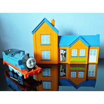 Thomas E Seus Amigos Locomotiva 12cm E Estação Trem Mattel