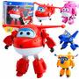 Super Wings Mini Aviões Discovery Kids - 4 Peças No Lote -