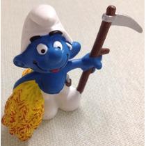 ### Smurfs - Smurf Fazendeiro Schleich - Miniatura Nova ###