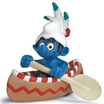 Canoe Smurf - Miniatura Imp. Schleich - Smurfs - Nova!