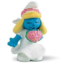 Bride Smurfette - Miniatura Imp. Schleich - Smurfs - Nova!