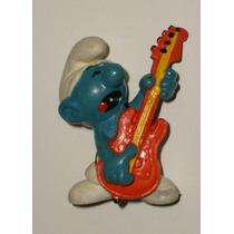 Smurf Guitarrista 5cm Schleich Peyo 1977 W Berrie Co Smurfs