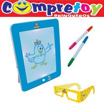 Fun Pad 3d Galinha Pintadinha Dican; Infantil; Tablet; 3 D