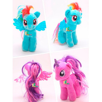 Kit 2 Bonecas Pelúcia My Little Pony Grande 30cm Original Ty