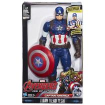 Avengers Capitão America Titan Hero Tech Eletrônico Hasbro