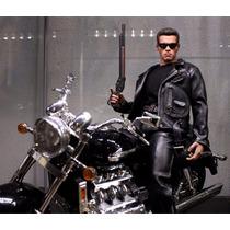 Hot Toys Dx10 Terminator 2 T2 T800 + Moto Similar Ao Filme