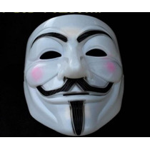 Máscara V De Vendetta Vingança Anonymus Halloween
