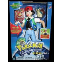 Pokémon - Ash & Cindaquil - Figuras Com Módulo Chip Hasbro