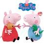Pacote Com 2 Pelúcias Peppa Pig E Jorge Grande 30cm