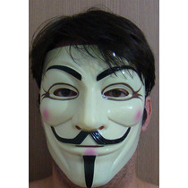 Máscara V De Vingança Anonymous Guy Fawkes Protesto Réplica