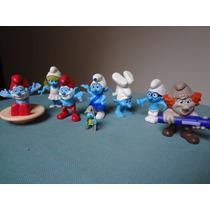 Lote Com 8 Bonecos Os Smurfs Mc Donalds