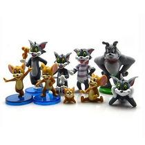 Tom & Jerry Set 09 Bonecos Gato Rato Cão * Frete Grátis *
