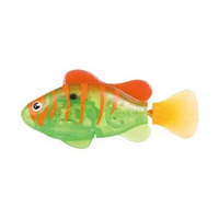 Robo Fish Laranja Com Verde Led Nova Serie - Dtc